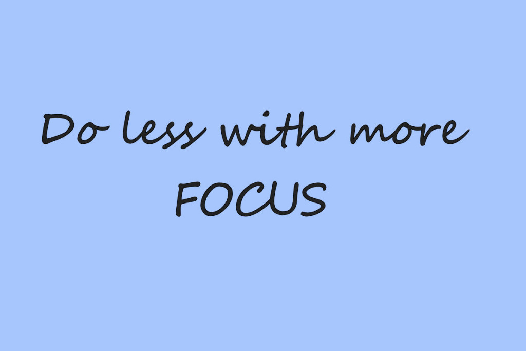 Do less with more focus, to don't lijst | digitalants